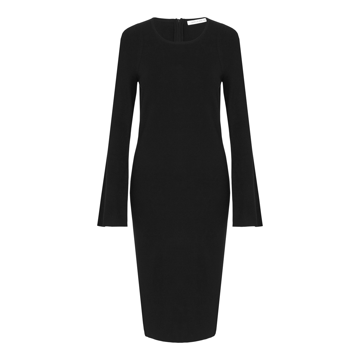 S7-darda flare sleeve dress JJ1CMK 406.DBLK black-17119-C&M-055